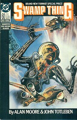 Swamp Thing #60 By Alan Moore John Totleben Sci Fi DC New Format NM/M 1987