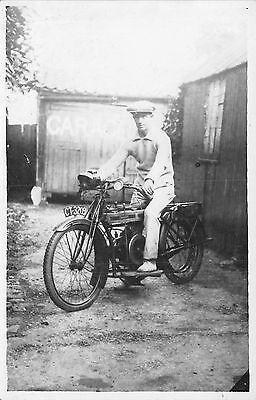 POSTCARD  VINTAGE  MOTORCYCLE   ReG NO.  CT 3209