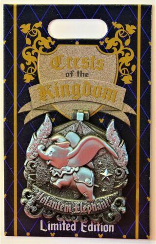 Disney Crests Of The Kingdom Pin 133968 LE 2000 Volantem Elephanti Hard To Find