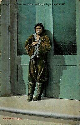 1909 AYP Exposition Postcard 5196; Woman Atunga in Fur Suit, Eskimo - Eskimo Suits