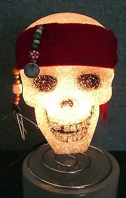 Lighted Halloween Pirate Skull Official Disneys Pirates Of The Caribbean Spooky