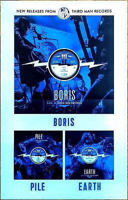 BORIS   PILE   EARTH Live At Third Man Records 2017 Ltd Ed RARE Poster Display!