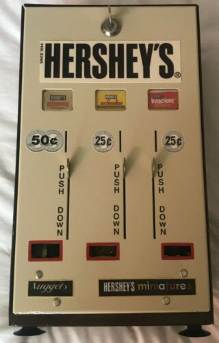 Hershey Vending Miniature Machine 25/50 Cent Gumball Machine