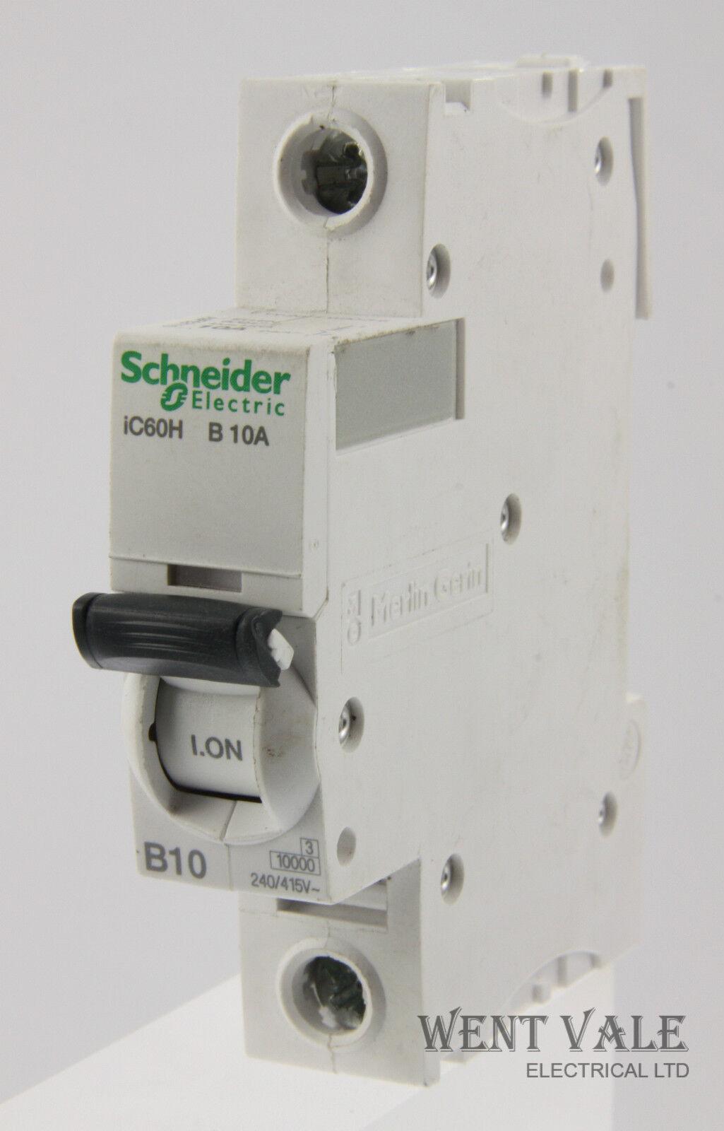Schneider Acti 9 - iC60HB110 - 10a Type B Single Pole MCB Latest Model Unused