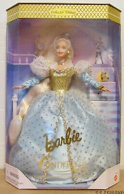 Barbie as Cinderella Collector Edition 1996 NRFB 16900 Blue dress