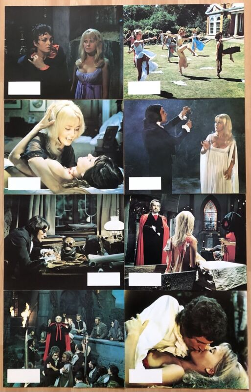 LUST FOR A VAMPIRE 1971 ORIGINAL UK SET OF 8 LOBBYCARDS NEAR MINT