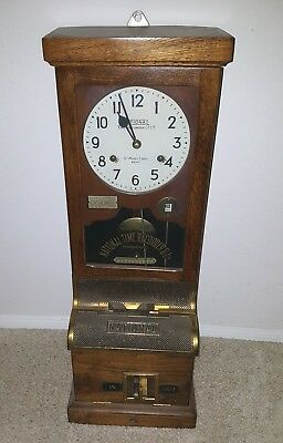 Vintage Antique National Time Recorder Co Time Clock