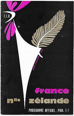 1964 - France v New Zealand, Touring Match Programme.