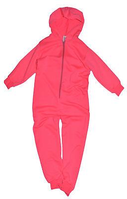 Boys Girls 1Onesie1 Kids Hooded Zip Jumpsuit Pyjama All In One Ages 1-14 Years