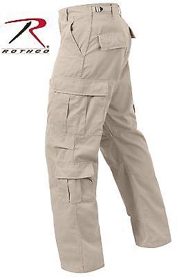 Mens Fatigue Pants - Stone Vintage Paratrooper Cargo Pants - Rothco Mens Beige Fatigue Pant