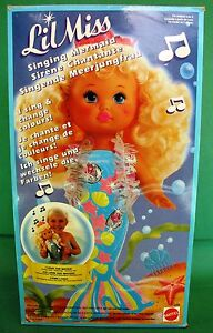 Mattel Lil Miss Singing Mermaid 1991 MIB