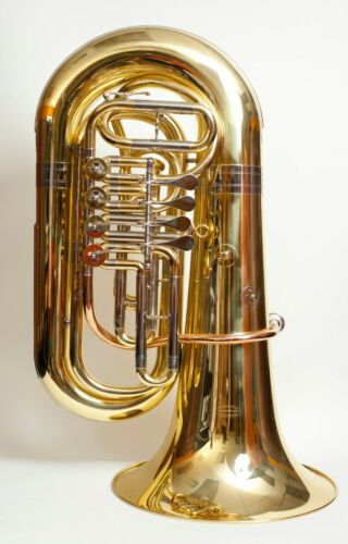 TEMPEST 4 VALVE SONOROUS BBb ROTARY 4/4 TUBA 5-YEAR WARRANTY CASE & MOUTHPIECE