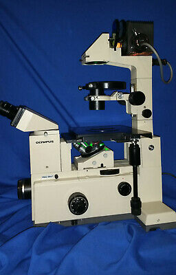 Olympus Imt -2 Microscope With Phase Contrast And 5 Lens