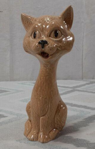 "Vintage SYLVAC ENGLAND Cat Figurine Statue 5298 Ceramic 7.5"" Tall Long Necked #2"