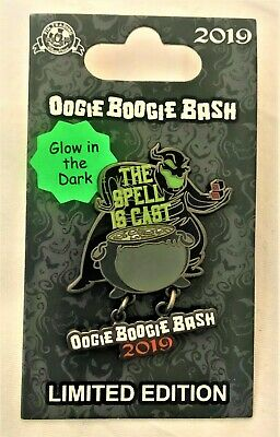 New! Disney Parks Oogie Boogie Bash The Spell Is Cast Pin Glow in Dark Halloween Oogie Boogie Pin