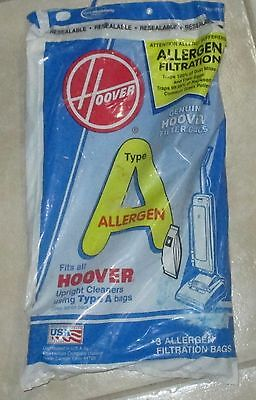 NEW 2 Hoover Genuine Type A Vacuum Cleaner Bags For Upright Style 4011100A for sale  Tampa