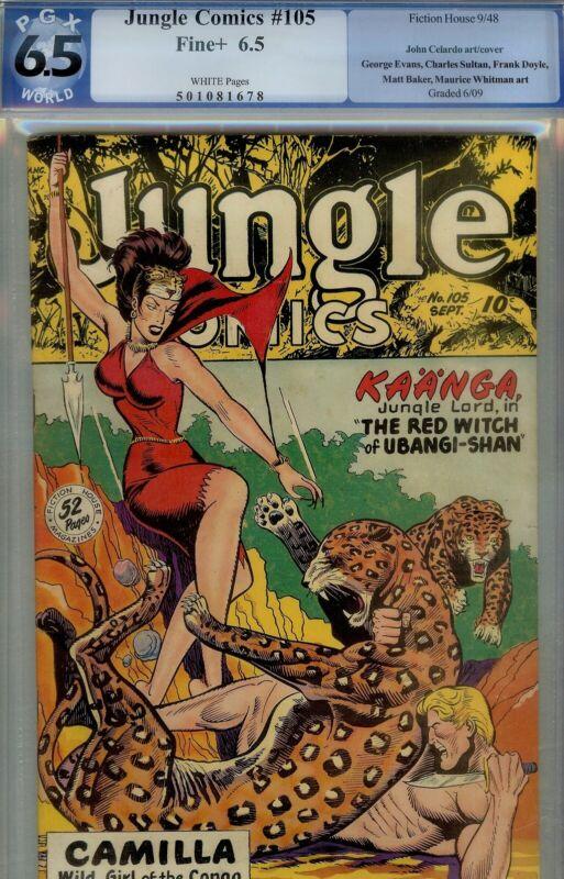 JUNGLE COMICS #89 CBCS 7.5- 1947 JOE DOOLIN BONDAGE KAANGA CVR