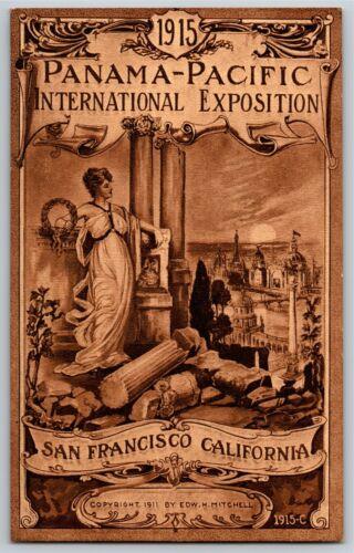 Vintage 1915 Pan Pacific Exposition San Francisco Postcard - Column Ruins