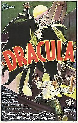 DRACULA Movie Poster Horror Vampire Bela Lugosi 1931 - Bela Lugosi Dracula