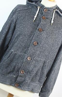 Burton Grey Cotton Blend Mens Hoodie Size L