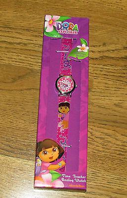New Nickelodeon Dora The Explorer Kids DTEKQ1092 Time Teacher Watch  - $10.99