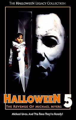 HALLOWEEN 5 The Revenge of Michael Myers Movie Poster Horror - Halloween The Revenge Of Michael Myers