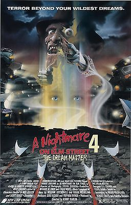 A NIGHTMARE ON ELM STREET 4 DREAM MASTER Movie Poster Horror Freddy Kruger
