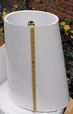 5 m  PET-A Folie  hochglanz weiß 0,8 mm x 480 mm  Modellbau Tiefziehen Deko