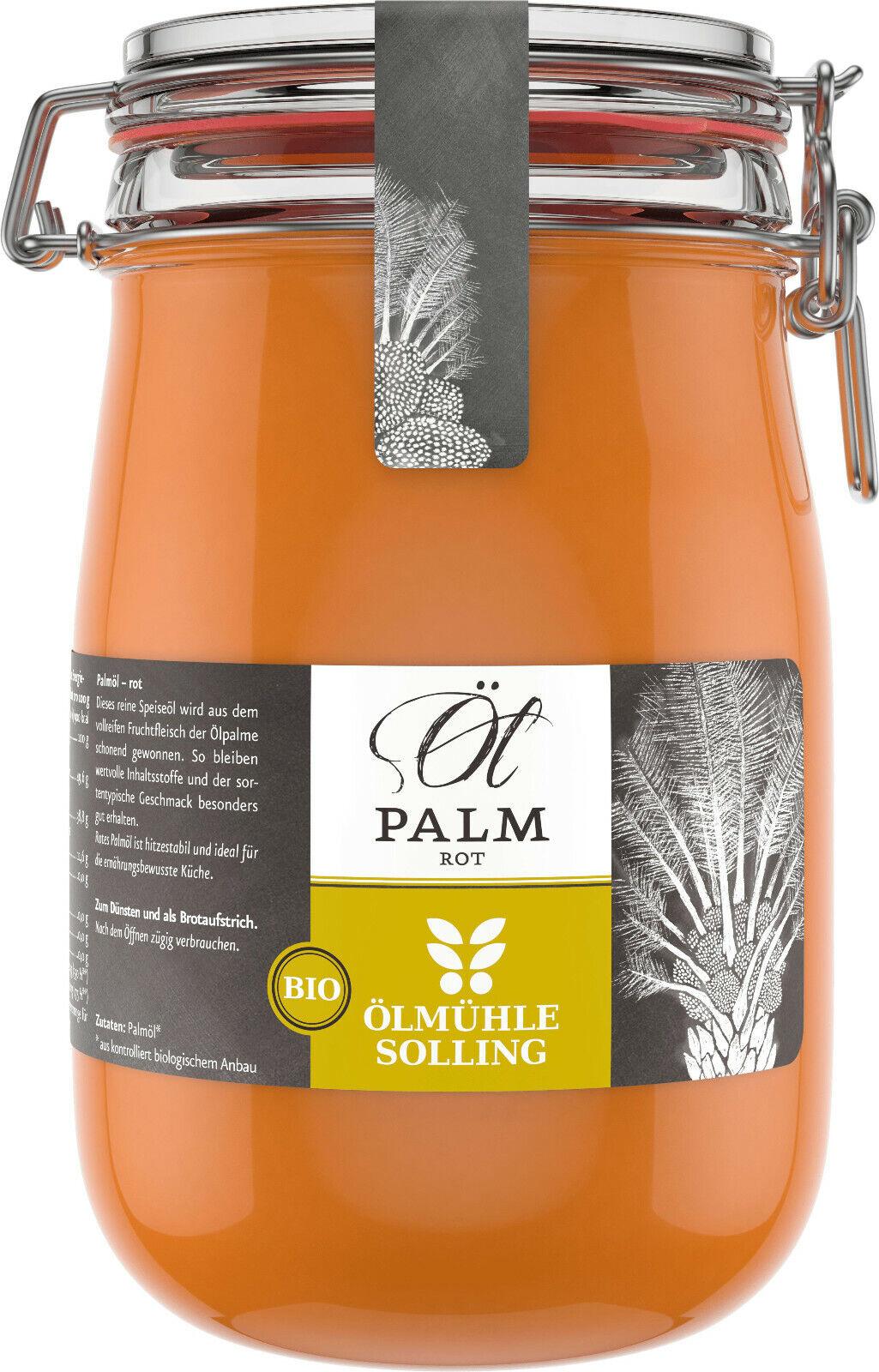 Ölmühle Solling Bio Palmöl rot nativ im Bügelglas 1000ml