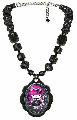 Tarina Tarantino Hello Kitty Pink Head Necklace