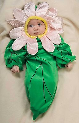 INFANT DAISY HALLOWEEN COSTUME GREEN  BUNTING PINK FLOWER CLEARANCE SALE  0-9 MO - Infant Halloween Costumes Bunting