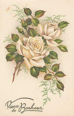 Blumen, Rosen, Glückwunsch AK, ca. 30er Jahre