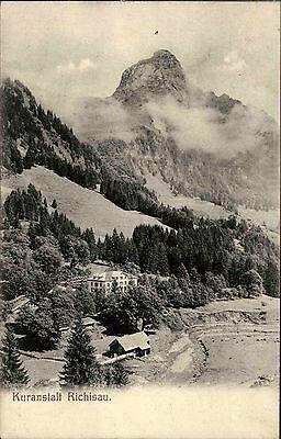 Richisau Schweiz Glarus Klöntal 1907 Kuranstalt Berge Alpen Gipfel Nebel Wolken