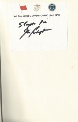 JAMES LIVINGSTON VIETNAM WAR  MEDAL OF HONOR RECIPIENT NOBLE WARRIOR SIGNED BOOK