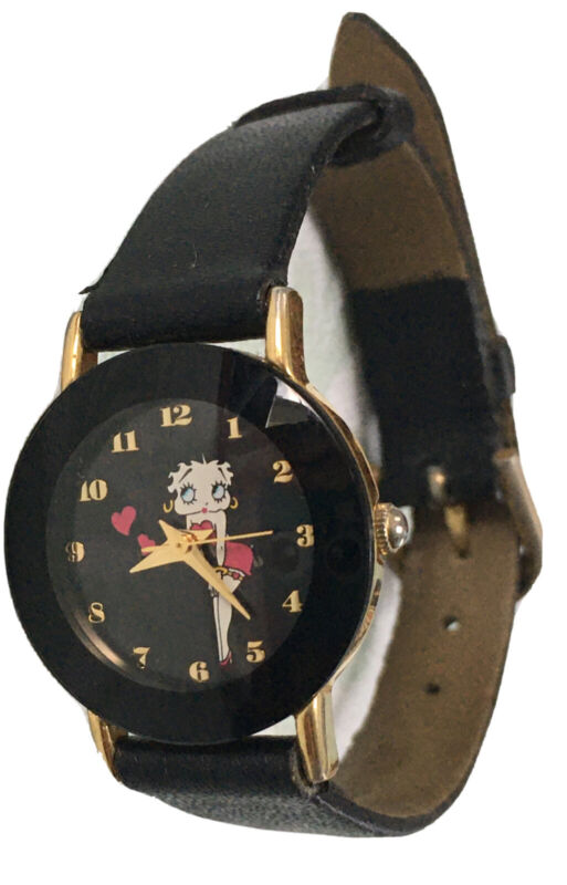 Vintage Betty Boop Watch With Leather Band L, 2008 TM Hearst Women's