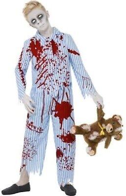 Boys Undead Corpse Zombie Pyjama Pajama Halloween Fancy Dress Costume 7-14