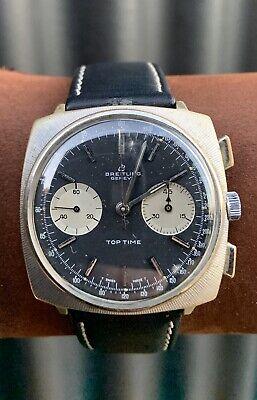 Breitling Top Time Chronograph Valjoux 7730 Vintage Circa 1968 Sun Burst Bezel