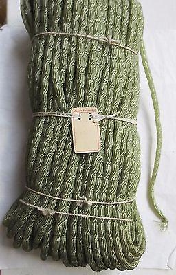 "SALE Antique Vintage Millinery Green Tubular Swiss Horsehair Unused 5/16"""