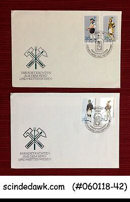GERMANY - 1978 COSTUMES OF PARADE - SET OF 2 FDC
