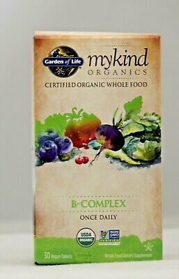 Garden Of Life MYKIND B- Complex Once Daily 30 Vegan Tablets