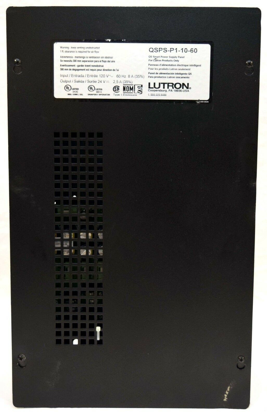 NEW Lutron Sivoia QSPS-P1-10-60 10-Unit QS Lighting/Drapery Power Supply Panel & NEW Lutron Sivoia QSPS-P1-10-60 10-Unit QS Lighting/Drapery Power ... azcodes.com