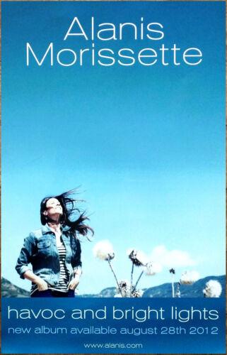 ALANIS MORISSETTE Havoc And Bright Lights Ltd Ed New RARE Tour Poster!