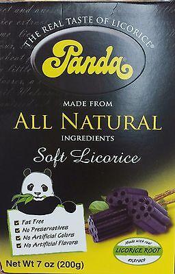 7oz Panda Black Soft Licorice Candy All Natural Fat Free No Preservative Finland