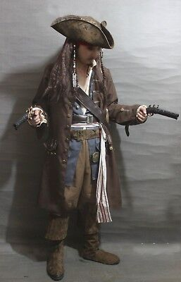Adult Men women Jack Sparrow Pirate Pirates Caribbean Halloween Party Cosplay