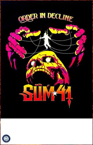 SUM 41 Order In Decline 2019 Ltd Ed New RARE Tour Poster +Free Punk Rock Poster!