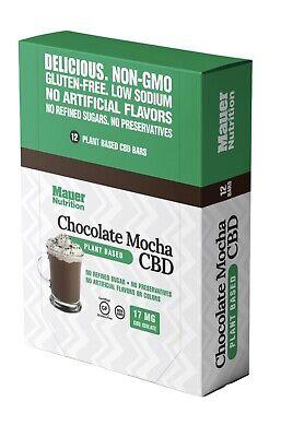 Box (12) Mauer Organic Nutrition Protein Bars Sports CHOCOLATE MOCHA