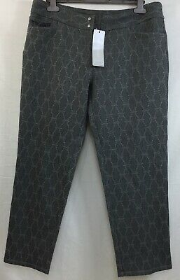 Adidas Women's Brocade Grey  cropped trousers Size L