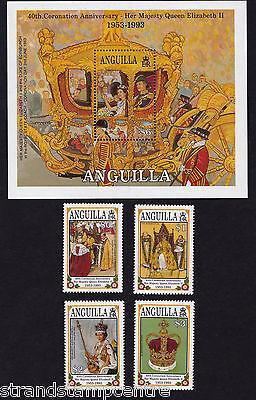 Anguilla - 1993 Coronation - U/M - SG917-20 + MS921