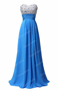 Long Formal Chiffon Prom Party Bridesmaid Evening Ball Gown Cocktail Dress