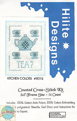 Cross Stitch Kit ~ Kitchen Colors - Tea? #HD801B OOP SALE!